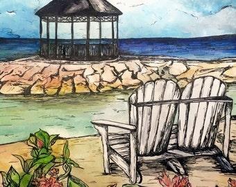 Custom Painting from Photo: Your wedding venue or honeymoon destination!