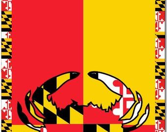 Maryland Flag Crab 2 LAMINATED Cornhole Wrap Bag Toss Decal Baggo Skin Sticker Wraps