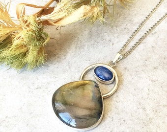 Labradorite & Kyanite Necklace
