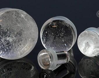 "SF Rock Crystal plugs 8g (3mm), 6g (4mm), 4g (5mm), 2g (6.5mm), 0g (8mm), 00g (9.5mm), 7/16 (11mm), 1/2"" (12.5mm), 9/16 (14mm), 5/8"" (16mm)"