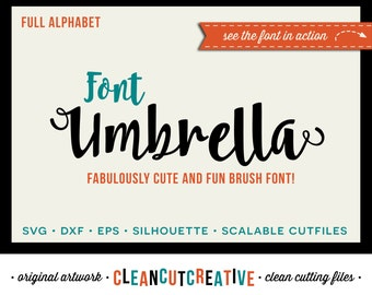 Full Alphabet SVG Fonts Cutfile - Cute Fun Brush cricut font - Studio3 DXF EPS Silhouette Cameo - commercial use clean cutting digital files