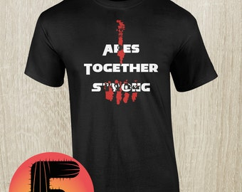 Apes Together Strong Hand-printed t-shirt