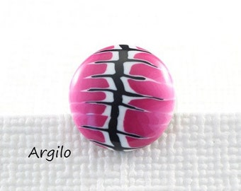 """Handmade Polymer Clay Ring Top """"Pink"""" (Small) One Of A Kind Polymer Clay Jewelry Pink Ring Top For Interchangeable Ring"""
