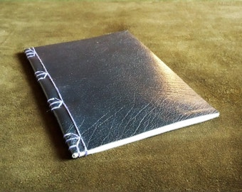 Unique Blue/Black Leather Japanese Stab Binding