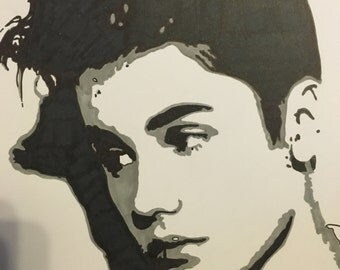 A4 framed Justin Bieber drawing