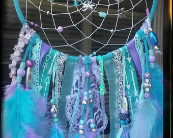 Lavender and Blue butterfly Dream Catcher