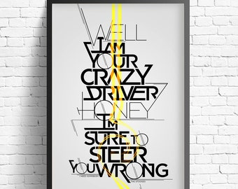 Crazy Driver Limited Run Lithograph