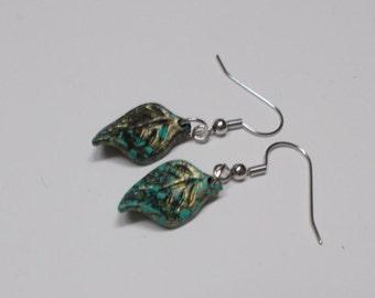 Vintage Style Earrings, Antique Copper, Leaf Earrings, Simple Earrings, Handmade Earrings, Handmade Jewelry, Leaf Design, Leaf Jewelry