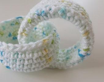 Crochet teething rings interlocked teething rings Linked Teething Rings