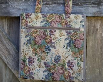 VINTAGE 1990s Floral Tote