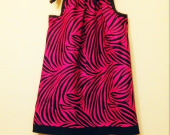 Pink & Black Zebra Print Dress