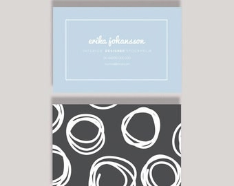 Erika Double Sided Business Card Template - Instant Download