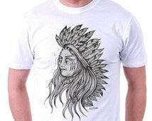 Native American Dot Work Tshirt/Native American Tshirt/Tattoo Design
