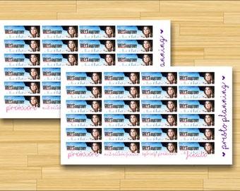 Grey's Anatomy Premiere and Finale Banner Erin Condren Life Planner Stickers - 24 per sheet