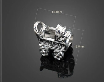 PANDORA Style CHARM / BABY Stroller Pandora Style Charm / Baby Carriage Pandora Style Charm / Charm for Bracelet / European Style Charm