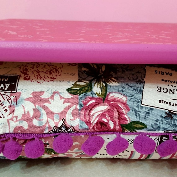 Pink Letters And Roses Fancy Lap Desk For Your By Elekbasshop
