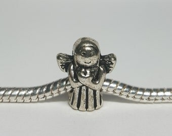 Silver Angel Charm for European Bracelets (item 193)