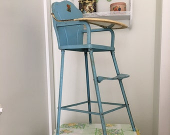 1950's Amsco Metal Toy High Chair
