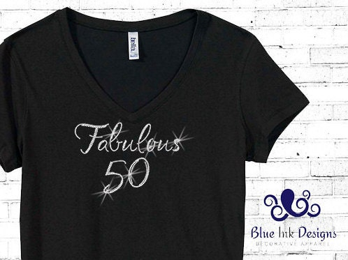 Rhinestone 50th Birthday Shirt