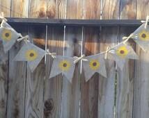 Fall banner, Summer banner, Sunflower decorations, Sunflower banner