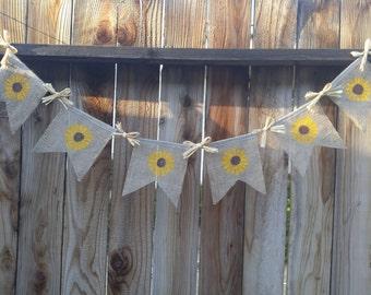 Summer banner, Sunflower decorations, Sunflower banner, fall banner