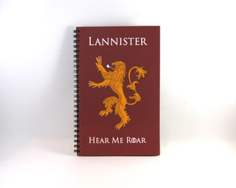 House Lannister Journal/Notebook Game of Thrones