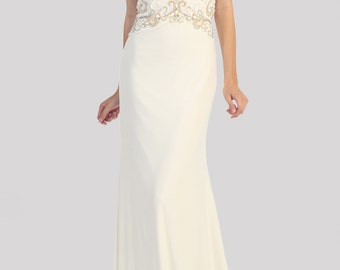 Embellishment Beaded Long Dress for Prom Dresses/ Quinceanera/ Special Occasion Gown