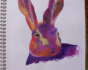 A3 Acrylic Hare Painting