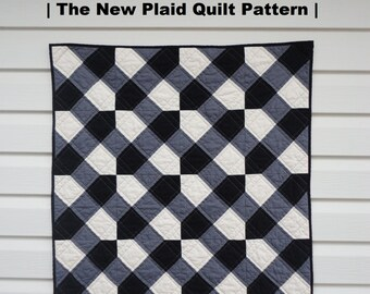 """PDF Quilt Pattern- """"The New Plaid"""" Modern Baby Quilt"""