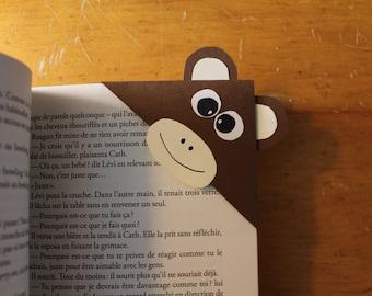 MONKEY Corner Bookmark