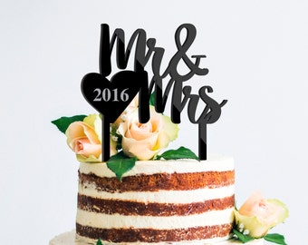 Custom Cake topper Mr and Mrs Wedding Cake Topper anniversary Personalized