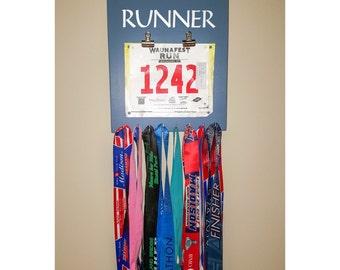 """Running Medal Bib Holder """"'Michigan' Runner"""""""