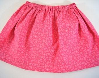 Floral Skirt, Girls Skirt, Toddler Skirt, Kids Skirt, Children Skirt