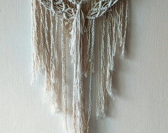 Macrame Wall Hanging with braids/ Bohemian Hippie Rustic Macrame Decor/ Wall Tapestry/ Home, Office, Bedroom Decor/ Unusual Elegant Gift