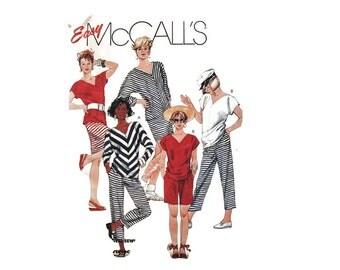 1980s Vintage Sewing Pattern - McCalls 3571 - Knit Top Capris Skirt