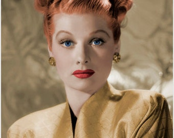 Lucille Ball Glamour Head Shot Poster High Quality Unique Collectible 24x36