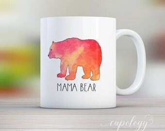 Mama Bear, Mug, Bear Mug, Gift for Mom, Coffee Lover, Tea Lover, Parents Gift, Mama, New Parent, Baby Shower Gift