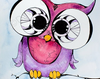 Pink & Purple Owl