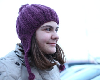 cool knitted hat with braids