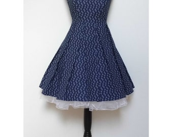 Navy Dress with Anchors