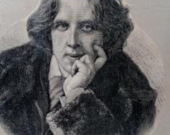 Oscar Wilde 1800's Illustration