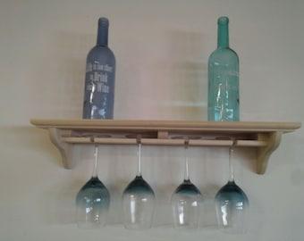 Wine Glass Holder with Shelf