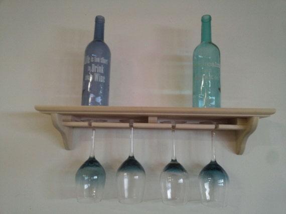 wine glass holder with shelf. Black Bedroom Furniture Sets. Home Design Ideas