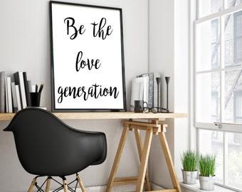 Wall Art, Love print, Black And White Art, Inspirational Art, Printable Wall Art, Printable Art, Inspirational Print, Typography Calligraphy