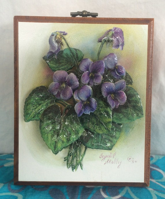 Items Similar To Small Pop Out African Violet Wall Hanging