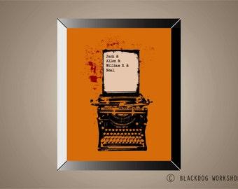 ON THE ROAD - Beat Generation Inspired Poster Print | 11 x 14 | Kerouac | Ginsberg | Burroughs | Cassady | Wall Art