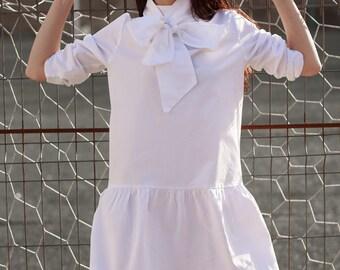 KÜPPER'S White oversized Bow shirt