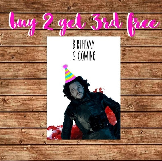 Items Similar To Funny Game Of Thrones Birthday Card