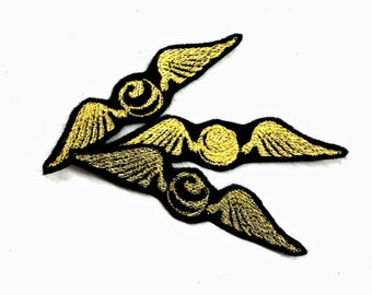 Harry Potter Golden Snitch Patch Iron-On