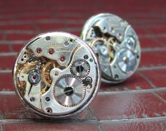 TIMOR Vintage Watch Movement Cufflinks